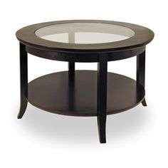 Espresso Gl Round Coffee Table Best Er Winsome Wood Tables