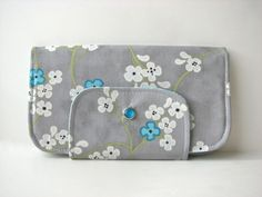 Wallet in Tree Blossoms in Grey and Aqua $32.40, via Etsy. Blossoms, Coin Purse, Aqua, Purses, Wallet, Trending Outfits, Grey, Unique Jewelry, Handmade Gifts