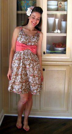 diy bow dress