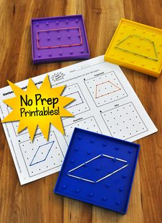 Geoboard Quadrilaterals is just one of the no prep printables in Math Stations for Middle Grades (grades 3-8). Preview the entire book online from this page! $