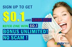 Sign up Epay.com to get $0.1  https://www.epay.com/?ref=527495 Share your link with your friend! Refer one win $0.1!  Bonus Unlimited, No Scam!