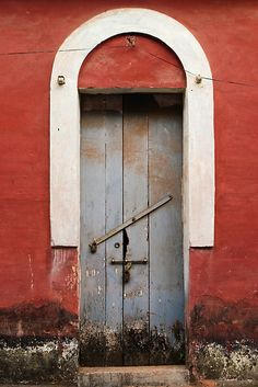'Red Arched Doorway' by Chinua Ford Stairs Window, Arch Doorway, Door Knockers, Door Knobs, Door Handles, Arched Windows, Windows And Doors, All About Doors, When One Door Closes