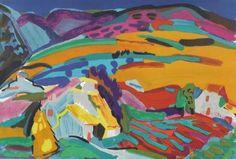 """Pierre AMBROGIANI (1907-1985 """"Paysage de Provence"""" lithographie"""