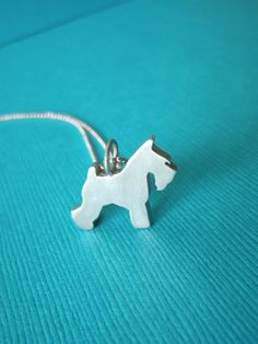 Love My Schnauzer Sterling Silver Silhouette Pendant Necklace - Dog Lover Jewelry - For Pet People $70