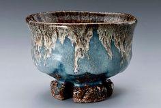 "Hagi ""Kujaku"" Tea Bowl with Wari-kodai by Yamane Seigen (item #1371389)"