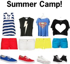 """""""Summer Camp Outfits!"""" by mbn5000 on Polyvore"""