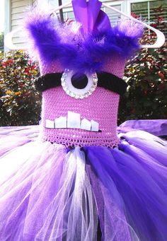 Purple Monster Tutu Halloween Costume Custom Made by SoftElegance