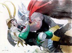 Thor vs. Loki by Esad Ribic