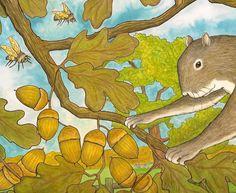 Nancy Tafuri's busy little squirrel.