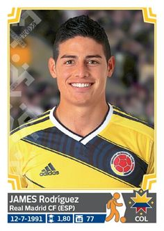 245 James Rodríguez - Colombia - Copa America Chile 2015 - PANINI