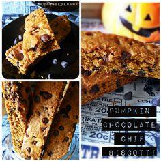 Pumpkin Chocolate Chip Biscotti #fall #recipes #vegan
