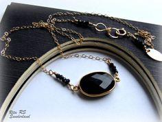 $106 Black garnet necklace