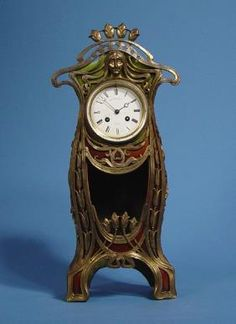 Circa 1910 French - Japy Freres Art Nouveau Mantel Clock