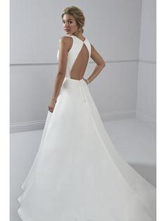 fa0296ff Romantica Corinne Soft Lightweight A Line Wedding Dress Ivory Minimal Wedding  Dress, Boho Wedding Dress