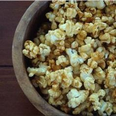 Microwave Caramel Popcorn 4 qt popcorn, 1 C br sugar, 1/2 c. marg, 1/4 C lt corn syrup, 1/2 tsp salt, 1 tsp van, - Combine heat 3 min, stir; heat 1.5 - stir in 1/2 tsp bkg soda; Pour syrup over popcorn in paper bag & shake - Place bag in microwave, cook 1 min 10 sec.  Dump popcorn onto waxed paper, let cool, store in airtight container.