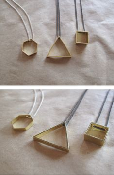 geometric jewelry--add color at the points