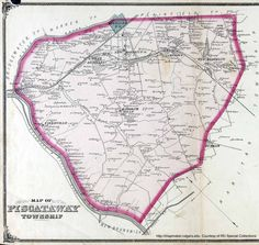 Antique map of Piscataway from 1876 (click on the map, it goes into detail) including parts that are now Dunellen and Middlesex.