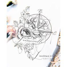 Compass Thigh Tattoo, Thigh Sleeve Tattoo, Mandala Compass Tattoo, Shoulder Cap Tattoo, Compass Tattoo Design, Mandala Tattoo Design, Feminine Compass Tattoo, Half Mandala Tattoo, Compass Art