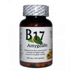 Amygdalin 100 Capsules Each capsule contains of pure Amygdalin quality Vitamin available!From the brand you can trustHighest concentration availableExtracted from bitter apricot kernelsEach capsule contains of pure Amygdalin quality Vitamin Natural Cancer Cures, Natural Health Remedies, Natural Cures, Natural Healing, Vitamine B17, Cancer Fighting Foods, Natural Vitamins, Natural Supplements, Cancer Treatment