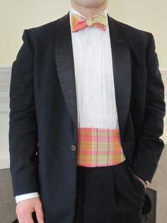 Princeville Silk Plaid Bow Tie & Cummerbund Set