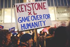 """""""Not here, not ever!""""  This anti-#KeystoneXL activism is pretty inspiring."""
