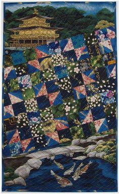"""Susan Briscoe is a UK-based textile artist, quilter, teacher and a world expert in Japanese quilting. She is author of many acclaimed books, including Japanese Quilt Blocks to Mix and Match and The Ultimate Sashiko Sourcebook, among others. Susan also offers a wonderful selection of quilt patterns for some of her most popular designs, including the award-winning """"O-neesan"""" (elder sister) shown above."""