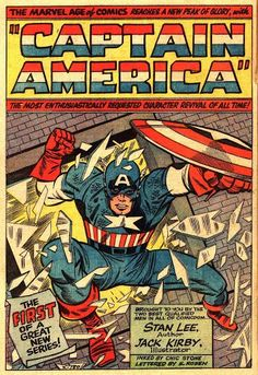 Awesome page from Tales of Suspense #59 Nov. 1964 by Jack Kirby & Chic Stone featuring Captain America! Captain America solo for the first time since the 1940s