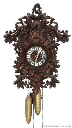 Black Forest 2 Wt. Cuckoo Clock – LOT 132 Estimate: $400 – $600 Black Forest 2 Wt. Cuckoo Clock  Antique Clock Auction, November 23rd 2013 - Black Forest 2 Wt. Cuckoo Clock