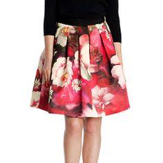Buy Ted Baker Monny Rose on Canvas Full Skirt, Bright Pink Online at johnlewis.com
