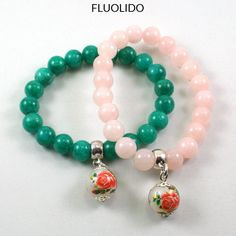 Bracelet Jade Floral Aqua, Rose, Beaded Bracelets, Jewelry, Fashion, Coral, Jewerly, Moda, Water