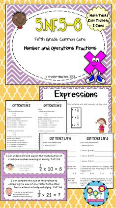 Math tasks, exit tickets, I cans. Get students thinking deeper about… Fraction Word Problems, Math Word Problems, Multiplying Fractions, Exit Tickets, World Problems, Fifth Grade, Elementary Math, Math Resources, Classroom Management