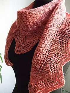 Ravelry: A little bit of Lace pattern by Michaela Richter in pdf Knit Or Crochet, Crochet Scarves, Crochet Shawl, Knit Shawls, Knitting Scarves, Knit Shrug, Knitted Poncho, Scarf Knit, Knitting Stitches
