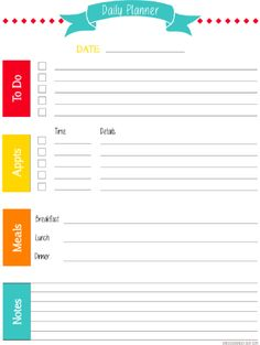A free daily planner spreadsheet for printing your own planner
