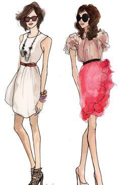 I Love Fashion Sketches / Fashion drawing by Inslee Fashion Art, Fashion Models, Girl Fashion, Fashion Design, Fashion Black, Princess Fashion, Vintage Fashion, Paper Fashion, Fashion Trends