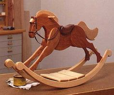 Playroom Palomino Rocking Horse : Large-format Paper Woodworking Plan from WOOD Magazine diy for beginners plans tips tools Woodworking Toys, Popular Woodworking, Woodworking Furniture, Furniture Plans, Woodworking Projects, Woodworking Classes, Wood Projects, Woodworking Machinery, Kids Furniture
