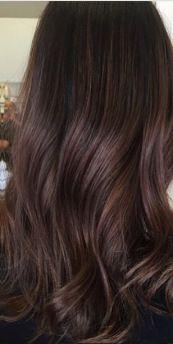 dark chocolate brunette hair color