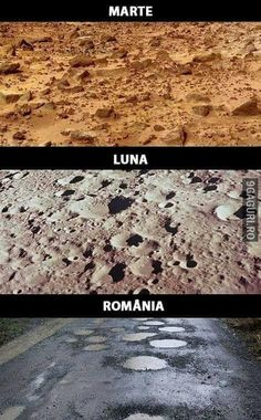 This should be Mars Moon.Romania literally every road in the whole country.thats if there is a riad to begin with😂😂😂 Funny Relatable Memes, Funny Texts, Funny Images, Funny Pictures, Fart Humor, Wtf Moments, Special Characters, Worlds Of Fun, Romania
