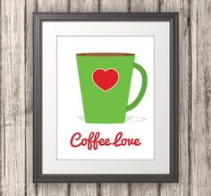 Coffee Love Coffee Print Coffee Art Kitchen by BentonParkPrints, $12.00