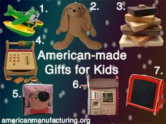 American-made gifts: Children's toys  Click the image for product/company info.