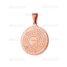 dije con letras de oro rosado en acero para mujer- SSPTG321514