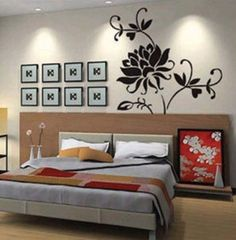 large wall decals - X Large Contemporary Black Floral Roses Flowers Design Over Inches Tall - More Than 5 Feet Wall Sticker Decal Flower Wall Stickers, Wall Stickers Murals, Wall Decals, Wall Art, Framed Art, Decor Crafts, Home Crafts, Home Decor, Lotus