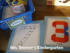 FREE pattern block templates Mrs. Bremer's Kindergarten: Math Work Stations