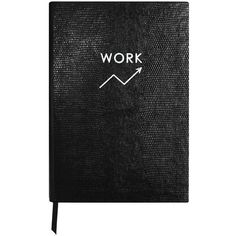 Sloane Stationery - Monochrome Work Notebook ($54) ❤ liked on Polyvore featuring home, home decor, stationery and accessories
