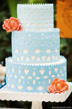 Papel Picado Wedding Cake by A Sweet Design