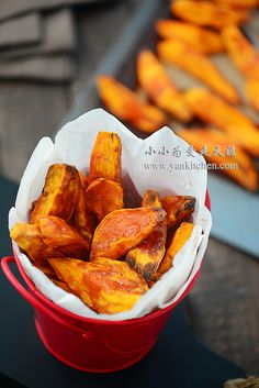 Baked Sweet Potato Wedges with Brown Sugar — Yankitchen