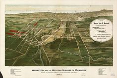 History: Wauwatosa and the Western suburbs of Milwaukee in 1892. #Wisconsin #history