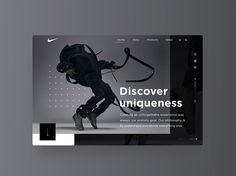 Nike VaporMax - Homepage by Vladimir Biondic -- . . . . . . #ui #dribbble #ux #design #webdesign #graphic #uidesign #userinterface #minimal…