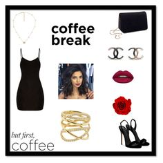 """""""Caffeine fix:Cofee Break"""" by jelenakarleusa-1 ❤ liked on Polyvore featuring beauty, Giuseppe Zanotti, Miss Selfridge, Gucci, Lana and Huda Beauty"""