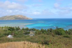 View over Blue Lagoon Resort on Nacula island, Fiji  Hiking the volcanic Yasawa Islands of Fiji via The World on my Necklace