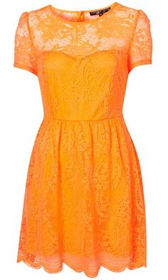 I'm not usually one for bright orange but I seem to have an obsession for lace at the moment and this dress is just too cute.